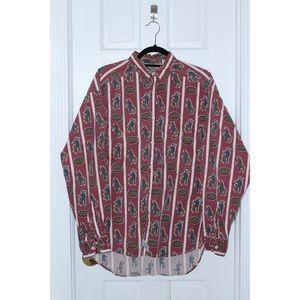 RARE Vintage LEVI's Western Print Shirt Striped